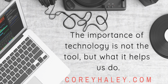 the importance of technology is not the thing, but what it helps us do. (1)