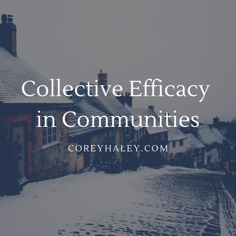 Collective Efficacy in Communities Hattie Schools  Education